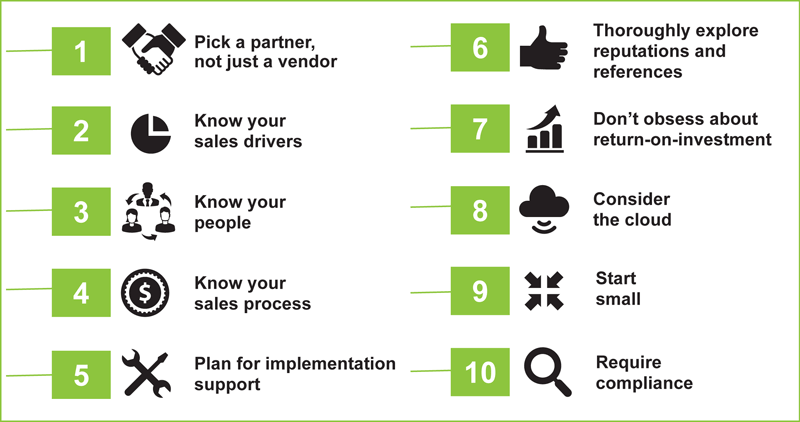 NAW-Top 10 Guiding Principles for Designing Your CRM Selection Process